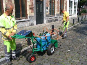 Stad Gent onkruidverdelging op propaangas